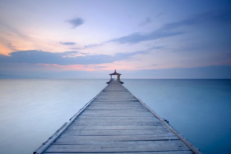 Sunset at Pasir Putih Beach, Situbondo, East Java, Indonesia