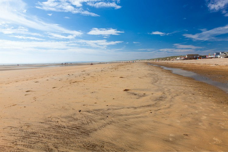 Golden sandy beach at Camber Sands East Sussex England UK Europe