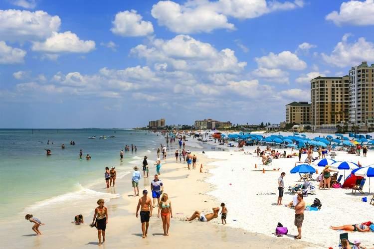 Sunshine on Clearwater Beach Florida, voted the number one beach in America