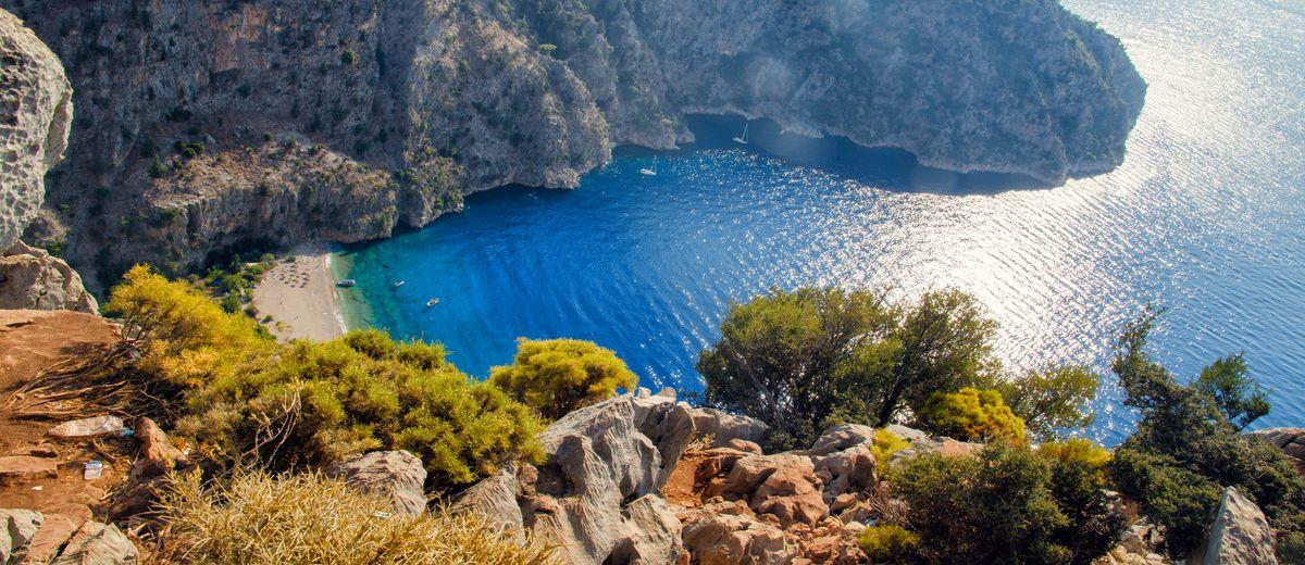 Oludeniz birds eye view Turkey beaches in Europe