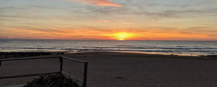 Sunset in Erretegia beach, Bidart