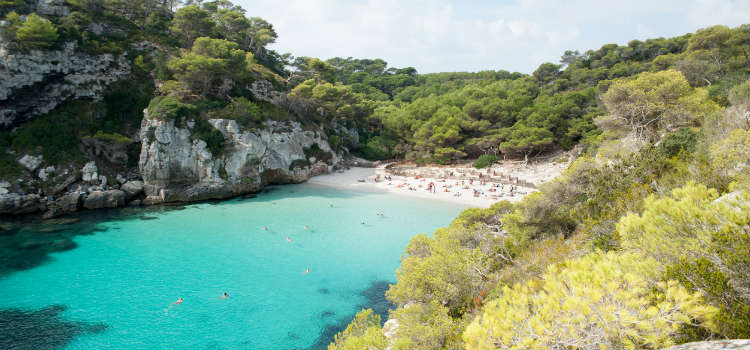 Cala Macarelleta best beaches in menorca