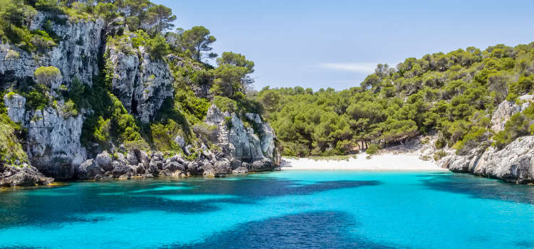 Cala Turqueta best beaches in menorca