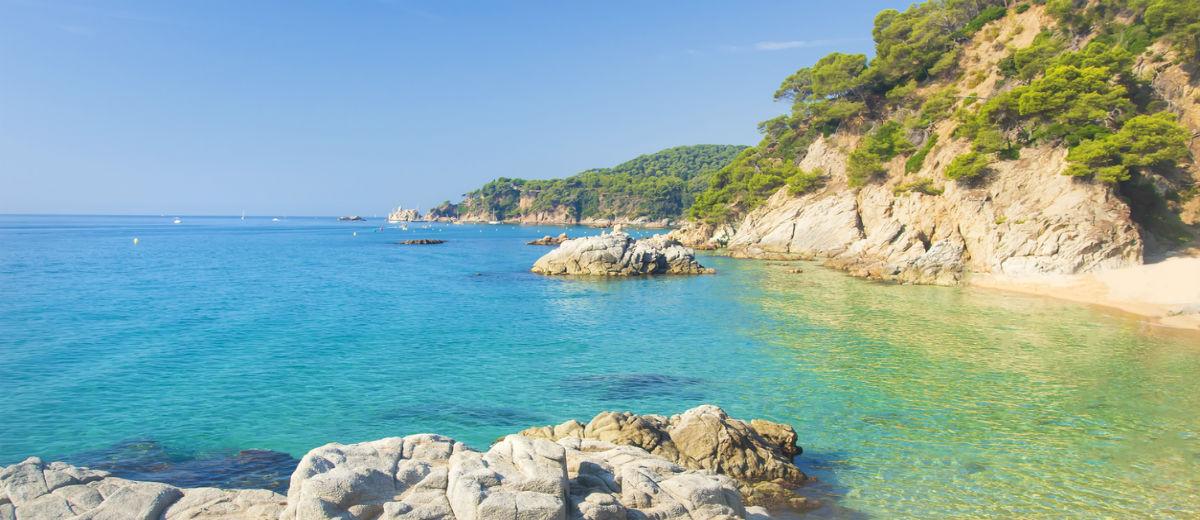 Playa Cala Sa Boadella, Lloret de Mar beaches in costa brava