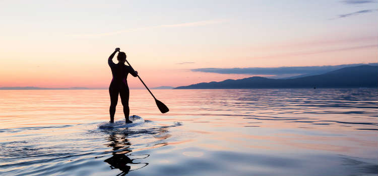 Stand-up paddleboarding outdoor activities on lisbon coast