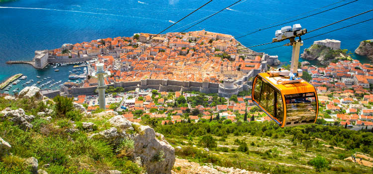 cable car mt syd dubrovnik travel guide