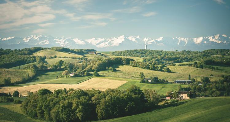 Scenery near Fourcés, Midi-Pyrénées