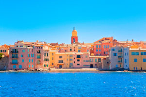 View of Saint-Tropez, French Riviera, France