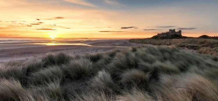 best beaches in northumberland bamburgh