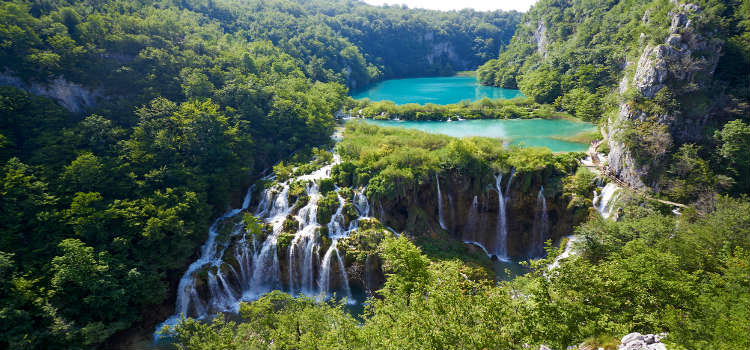 Plitvice National Park falls
