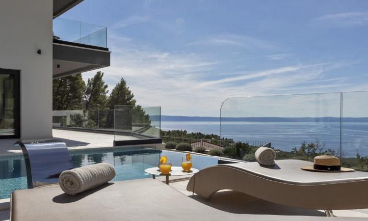 Villa Studena, Dalmatia, Croatia: View of the ocean from an infinity pool