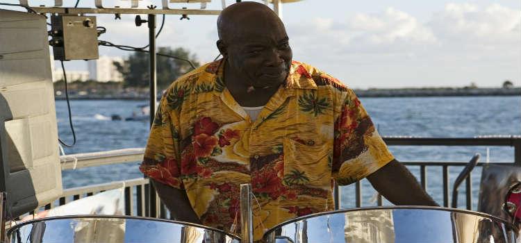 musician steel drums jamaica