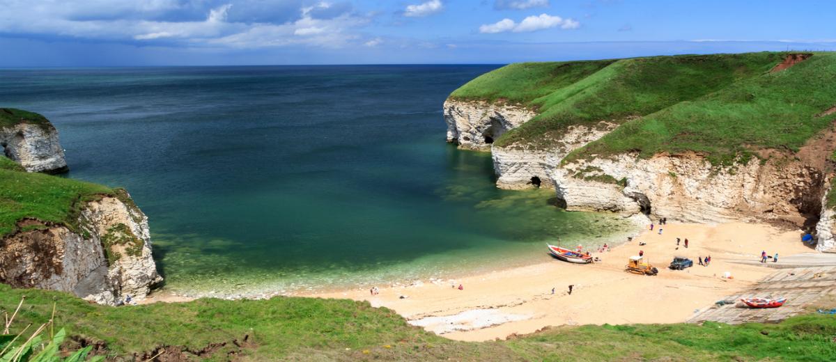 North Landing - Best beaches in Yorkshire