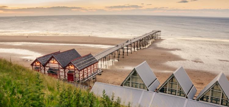 Saltburn Beach - Best beaches in Yorkshire