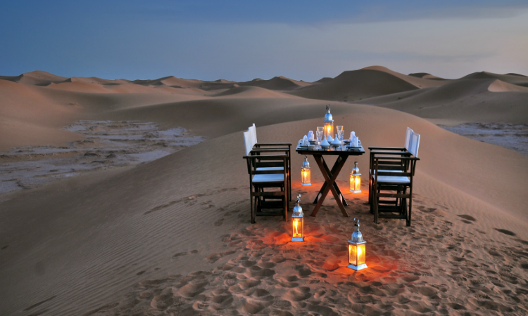 Bucket list activities - Dinner under the stars in Morocco