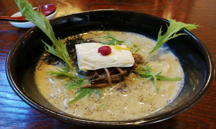 Vegan Ramen discovered through HappyCow in Japan