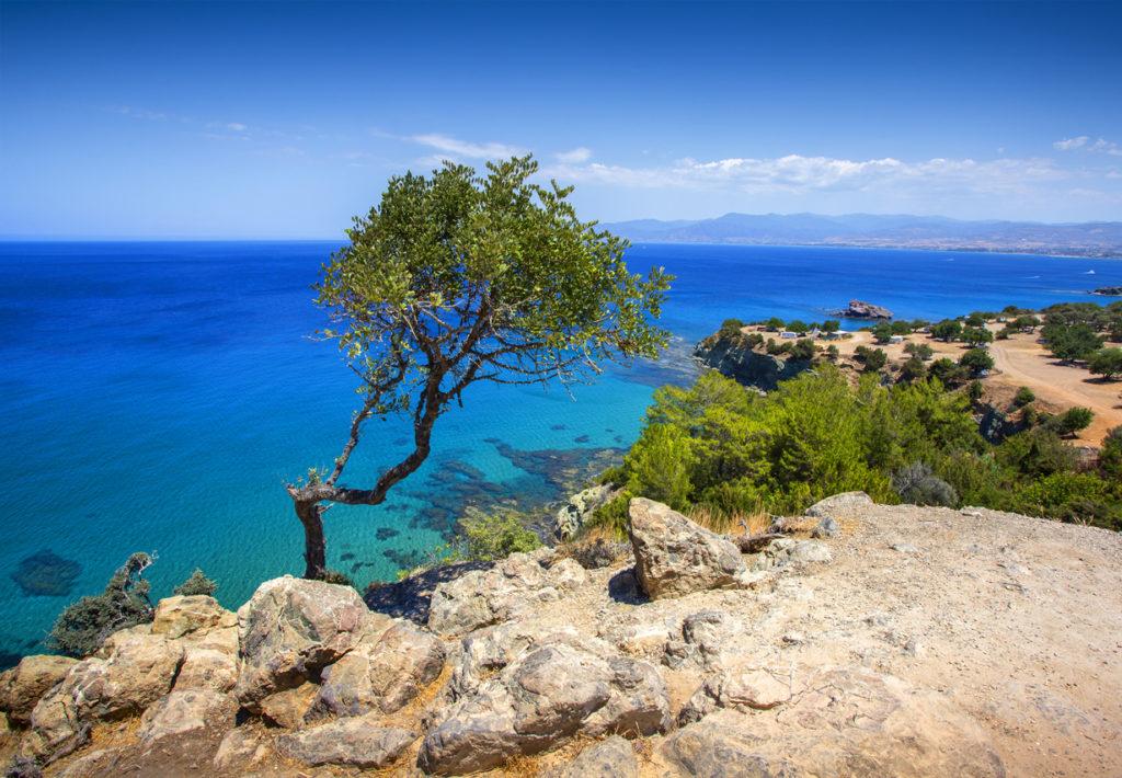 Sea view on Akamas peninsula, Cyprus