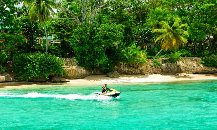 Barbados jet ski