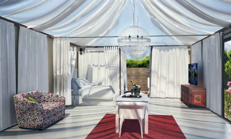 Quirky places to stay Oleandro Tent