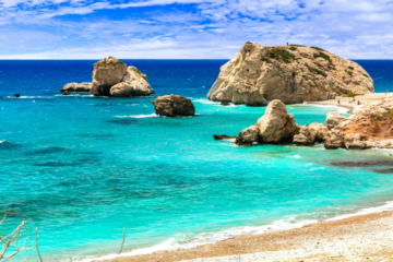 Petra tou Romiou famous as a birthplace of Aphrodite: Cyprus beaches