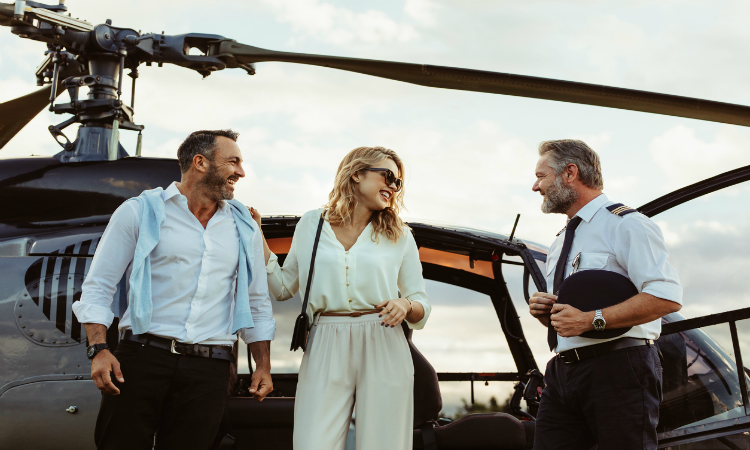 james bond experience - private helicopter