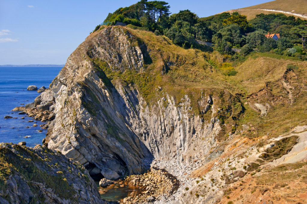 stair hole dorset coast england uk