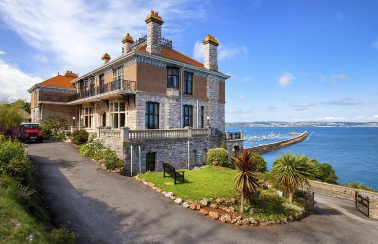 Brixham Manor House Devon overlooking water - Unusual places to stay in the UK