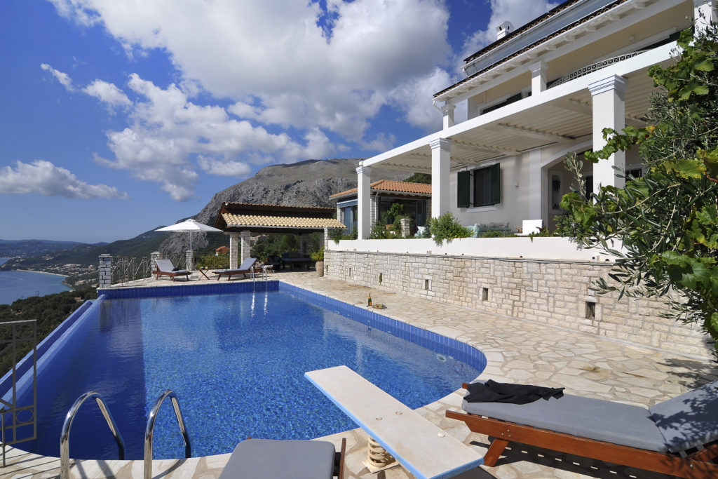 Swimming pool view overlooking mountain views