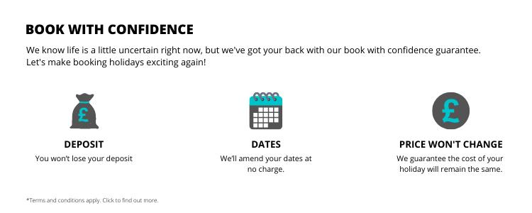 book with confidence covid guarantee