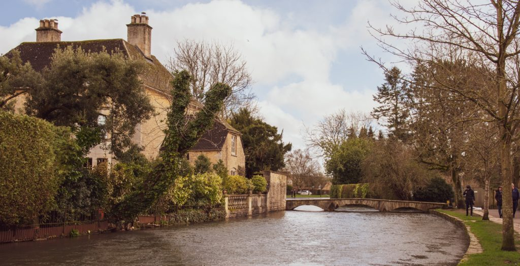 cotswolds village with river
