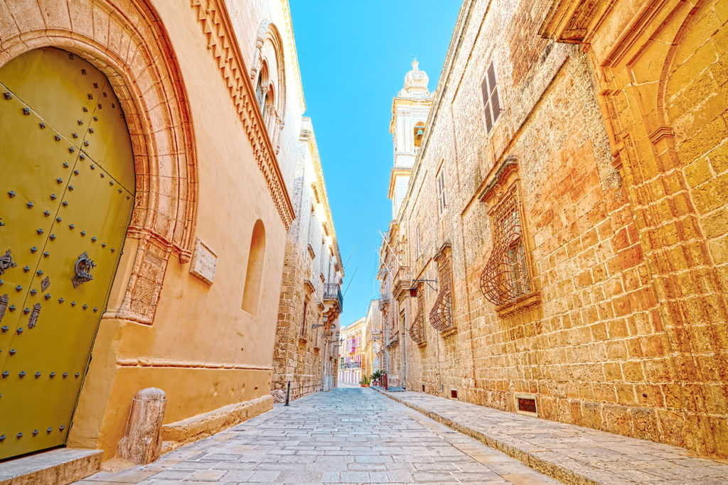 Characteristic alley of Ir-Rabat, Gozo, Malta