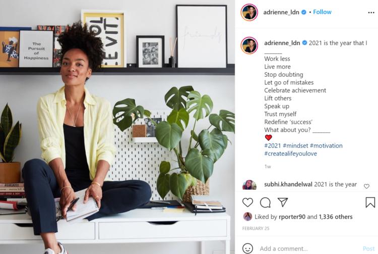 Adrienne Instagram International Women's Day