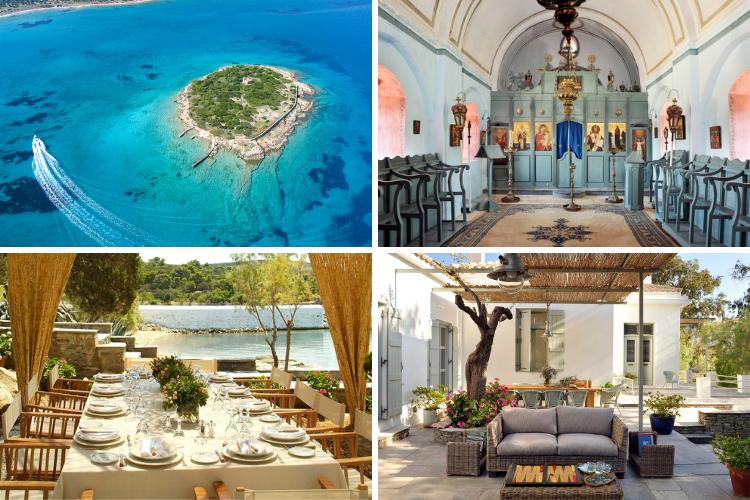 Greek villas with chapels - Treasure Island