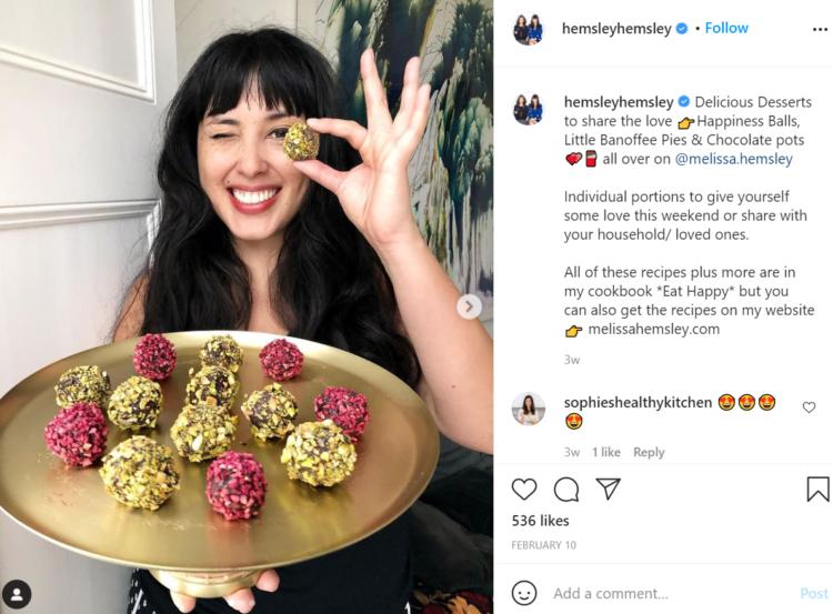 Jasmie and Melissa Hemsley Instagram