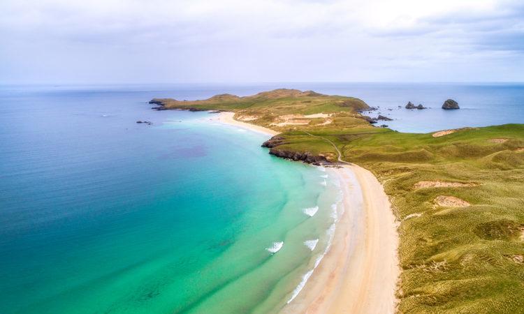 The Scotland beach of the peninsula Balnakeil