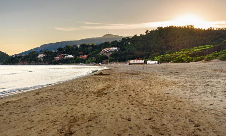 Beach on Tombolo della Feniglia in Orbetello