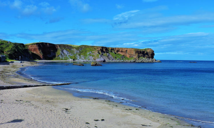 An image of Eyemouth beach in Berwickshire Scotland.