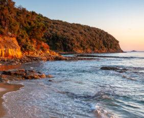 Scenic rocky beach Cala Violina