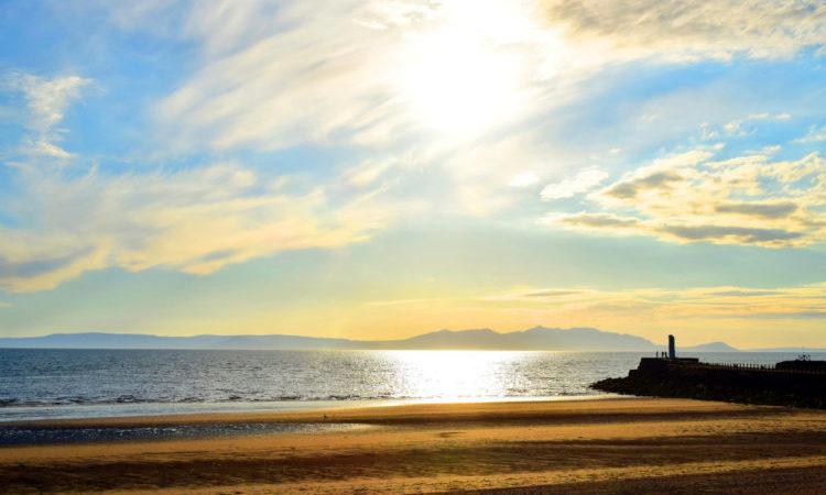 beach in Ayr Scotland