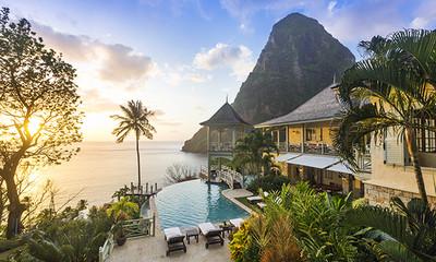 Beachfront villas in caribbean