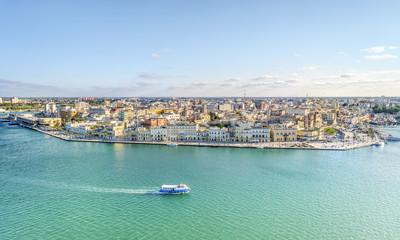 Aerial panorama of Brindisi, Puglia