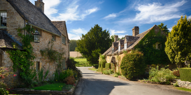 Old Cotswold Stone Houses